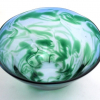 Turquoise Emerald Morris Bowl lovely decorative and functional handblown glass bowl