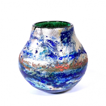 Land Ahoy - A Freeblown Glass Pot by Adam Aaronson