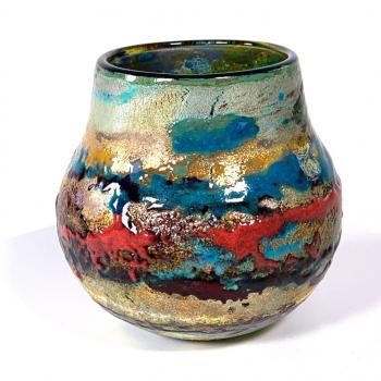 Sunset is a Handblown Landscape pot by Adam Aaronson