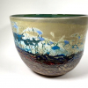 BayView V Very Large Handblown Glass Bowl by Adam Aaronson