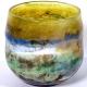 Spring Sky Handblown Glass Bowl by Adam Aaronson