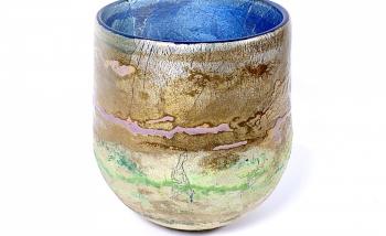 Summer Dawn Handblown Glass Bowl by Adam Aaronson