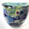 Secret Garden Flat Vase Handblown Glass by Adam Aaronson