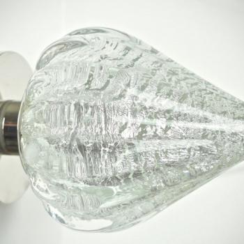 Handmade Glass Barcelona Silver Door Handle by Adam Aaronson Studio