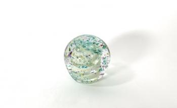 Double Spiral Handmade Glass Paperweight by Adam Aaronson