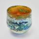 Gold Horizon Bowl,handblown glass by Adam Aaronson