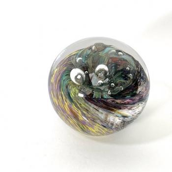 Hidden Depths, handmade glass paperweight by Adam Aaronson