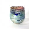 Pink Horizon Bowl, handblown glass by Adam Aaronson