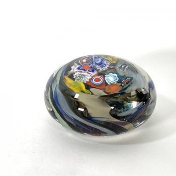 Reef Treasure handmade glass paperweight by Adam Aaronson