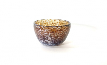 Calico and Treacle Bowl Handblown Glass Bowl by Adam Aaronson