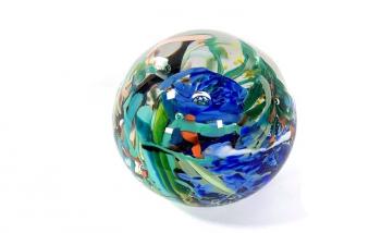 Tropical Reef, Handmade Glass Paperweight by Adam Aaronson