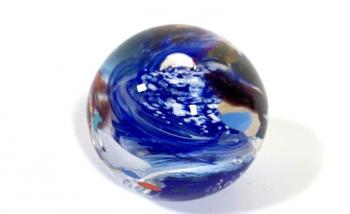 Ocean Current Handmade Glass Paperweight by Adam Aaronson