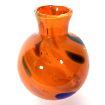 Orange Bud Vase Handmade Glass by Adam Aaronson