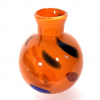 Orange Bud Vase Handmade Glass by Adam Aaronson