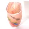 Peach Beachcomber Fan Vase Handblown Glass by Adam Aaronson