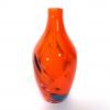 Red Beachcomber Medium Bottle Handmade Glass by Adam Aaronson