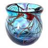 Turquoise Morris Bowl Handblown Glass by Adam Aaronson