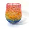 Tall Rainbow Bowl Handblown Glass by Adam Aaronson