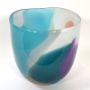 Azure Beachcomber Tulip Bowl Handblown Glass by Adam Aaronson