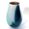 Blue Beachcomber Alana Vase Handblown Glass by Adam Aaronson