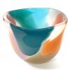 Peach Beachcomber Tulip Bowl Handblown Glass by Adam Aaronson