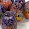 Rainbow Eggs Hand Made Glass by Adam Aaronson