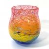 Swirly Rainbow Vase Handblown Glass by Adam Aaronson