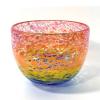 Wide Rainbow Bowl Handblown Glass by Adam Aaronson