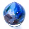 Blue Rhapsody Sphere Handblown glass by Adam Aaronson