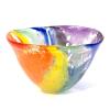 Deep Rainbow Bowl Handmade Glass by Adam Aaronson