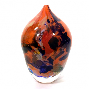Orange Rhapsody Vase Handblown glass by Adam Aaronson