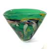 Secret Garden Green Fan Vase Handblown glass by Adam Aaronson