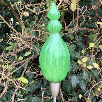 Spring Green Triple Pod Handblown Garden Sculpture by Adam Aaronson