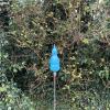 Turquoise Triple Pod Handblown Garden Sculpture by Adam Aaronson
