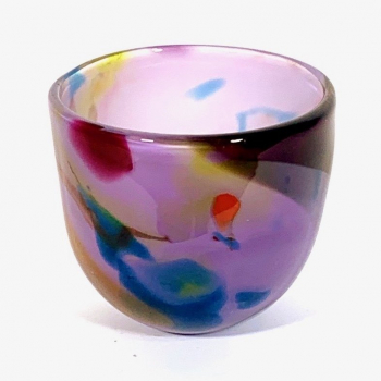 Small Amethyst Beachcomber Bowl Handblown Glass by Adam Aaronson